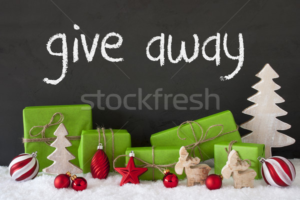 Christmas Decoration, Cement, Snow, Text Give Away Stock photo © Nelosa