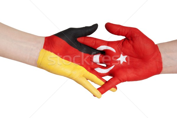 handshake between turkey and germany Stock photo © Nelosa