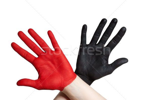 two painted hands Stock photo © Nelosa