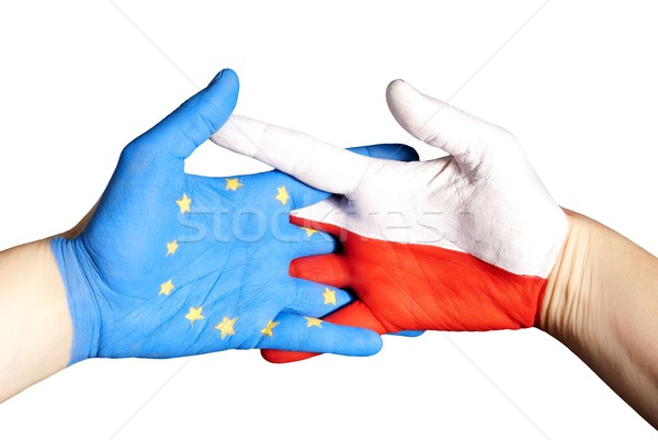 partnership between poland and europe Stock photo © Nelosa