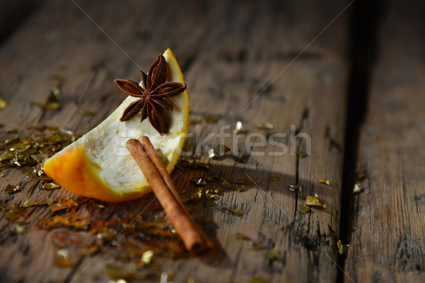 украшение оранжевый корицей блеск анис Сток-фото © Nelosa