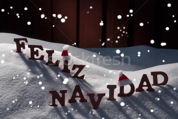 Сток-фото: карт · Hat · Рождества · красный