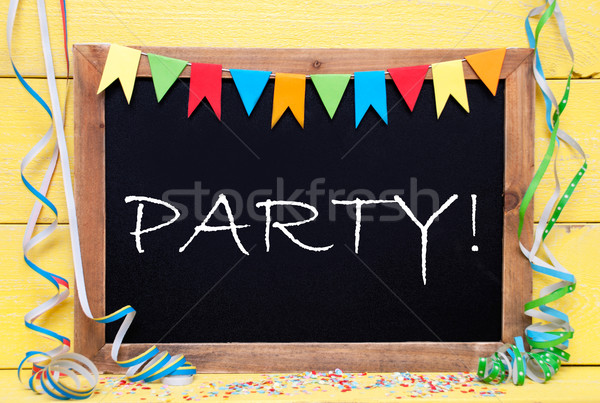 Chalkboard With Decoration, Text Party Stock photo © Nelosa