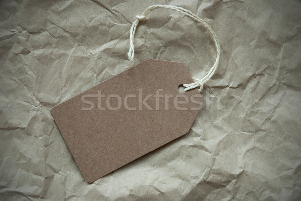 Beige Label With Copy Space Paper Background Stock photo © Nelosa