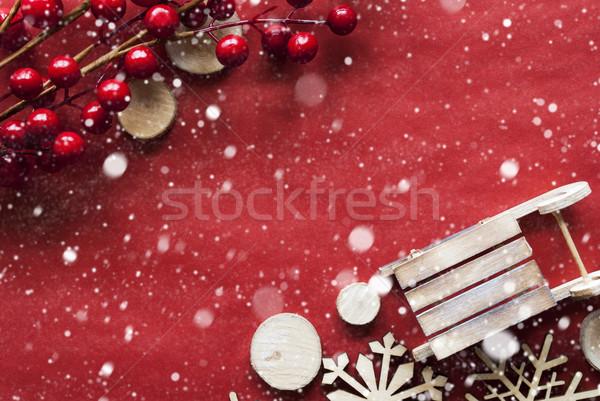 クリスマス 装飾 そり コピースペース のような 雪 ストックフォト © Nelosa