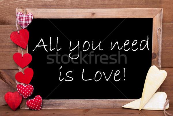 Czerwony żółty serca potrzeba miłości Zdjęcia stock © Nelosa