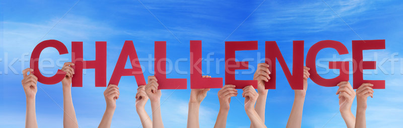 Stock fotó: Emberek · tart · kihívás · égbolt · sok · szó