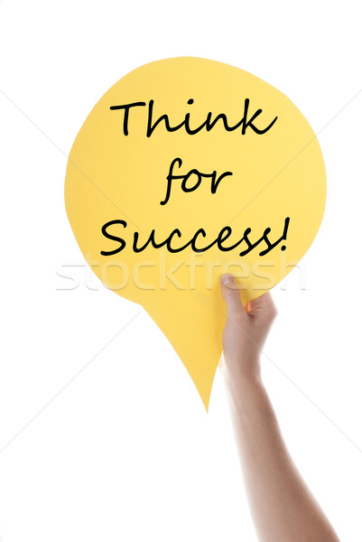 Yellow Speech Balloon With Think For Success Stock photo © Nelosa