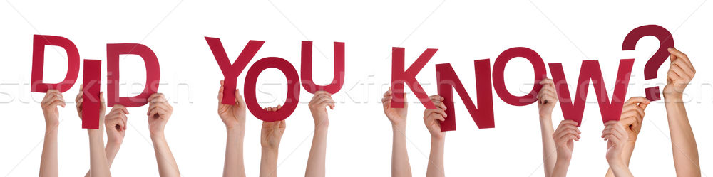 People Hands Holding Red Word Did You Know Stock photo © Nelosa