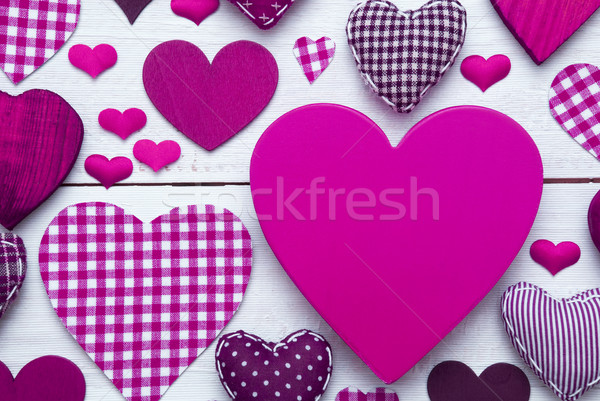 Greeting Card With Pruple Heart Texture, Copy Space Stock photo © Nelosa