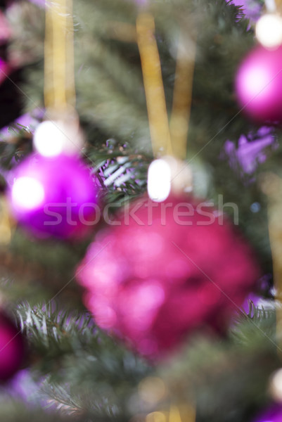 Függőleges homályos karácsonyfa rózsa kvarc golyók Stock fotó © Nelosa