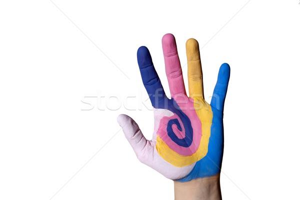 colorful hand Stock photo © Nelosa