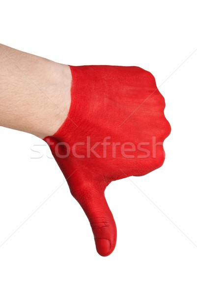 red hand thumbs down Stock photo © Nelosa