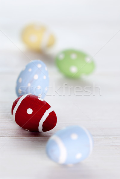 Colorful Easter Eggs As Close Up Stock photo © Nelosa