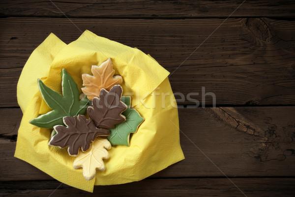 Autumn Cookies in a Bowl Stock photo © Nelosa