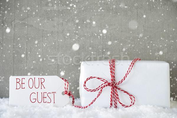подарок цемент текста гость один Сток-фото © Nelosa