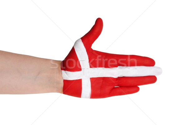 danish handshake gesture Stock photo © Nelosa