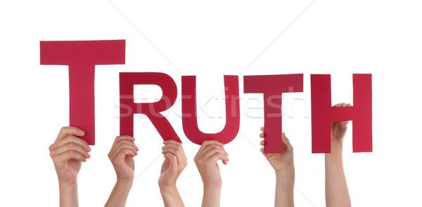 Personas verdad muchos manos palabra Foto stock © Nelosa
