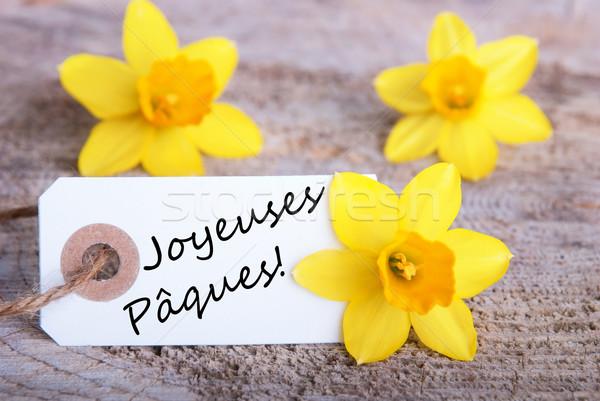 Tag with Joyeuses P Stock photo © Nelosa