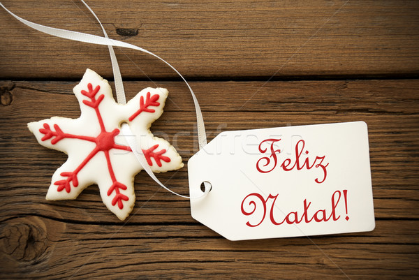 Feliz Natal, Portuguese Christmas Greetings Stock photo © Nelosa