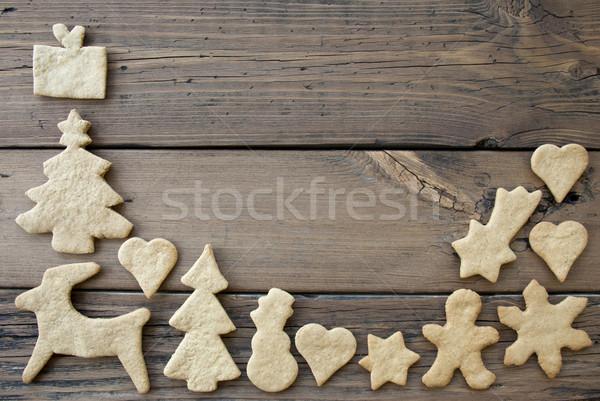 Ginger Bread Frame Background Stock photo © Nelosa