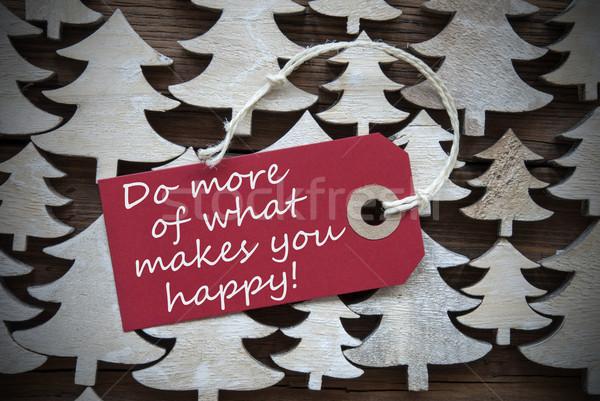 Rojo Navidad etiqueta más qué feliz Foto stock © Nelosa