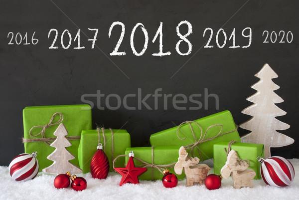Natal decoração cimento neve feliz ano novo Foto stock © Nelosa