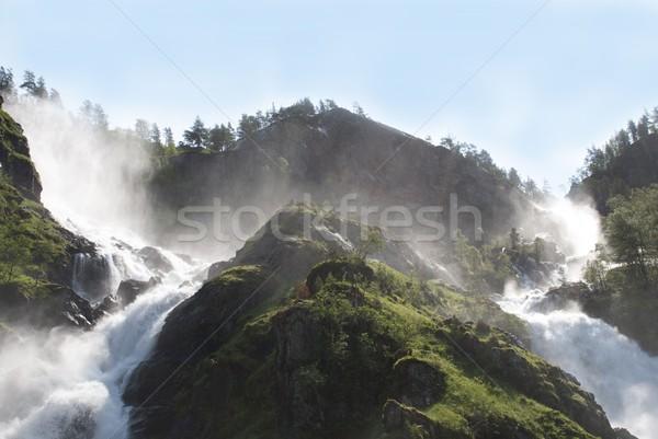 two waterfalls Stock photo © Nelosa