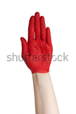 red hand Stock photo © Nelosa