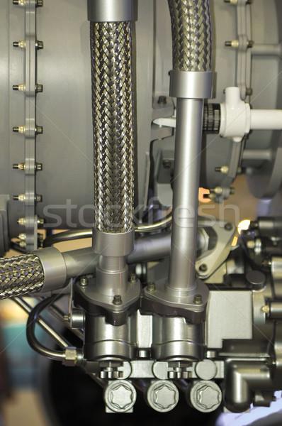Hidráulico pipes usado aviação indústria metal Foto stock © nelsonart