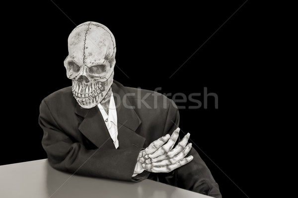 creepy skeleton Stock photo © nelsonart