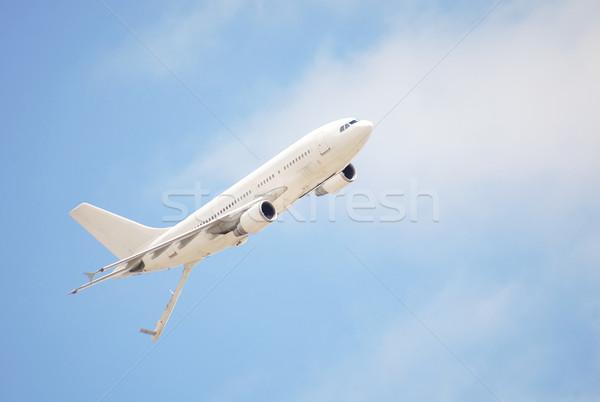 Megtankol repülőgép repülés utazás ipar repülőgép Stock fotó © nelsonart