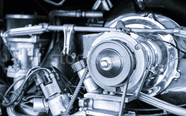 классический автомобиль двигатель синий автомобилей автомобилей Сток-фото © nelsonart