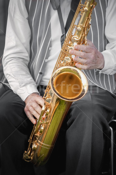 saxophonist Stock photo © nelsonart