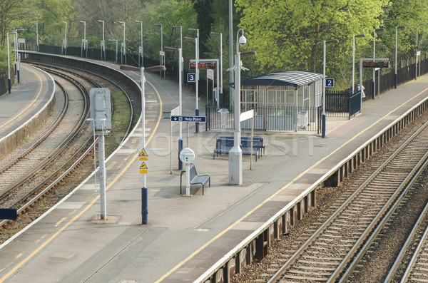 deserted platforms Stock photo © nelsonart
