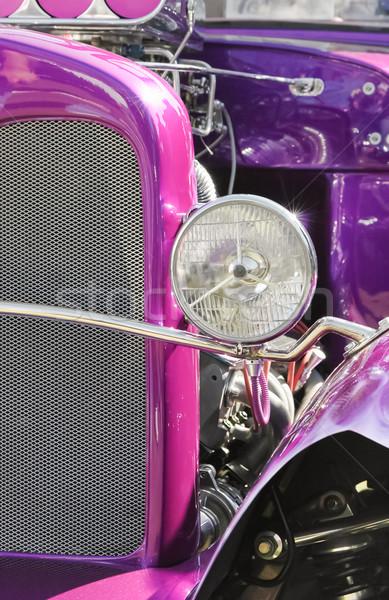Paars motor auto licht auto Stockfoto © nelsonart