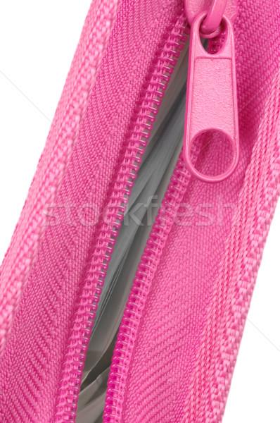 Rózsaszín cipzár mappa mutat papírmunka tartalom Stock fotó © nelsonart