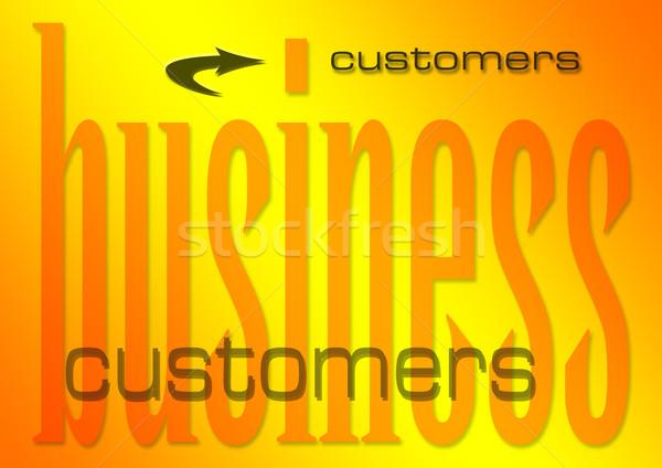 üzlet vásárlók illusztráció lángoló pénz háttér Stock fotó © nelsonart