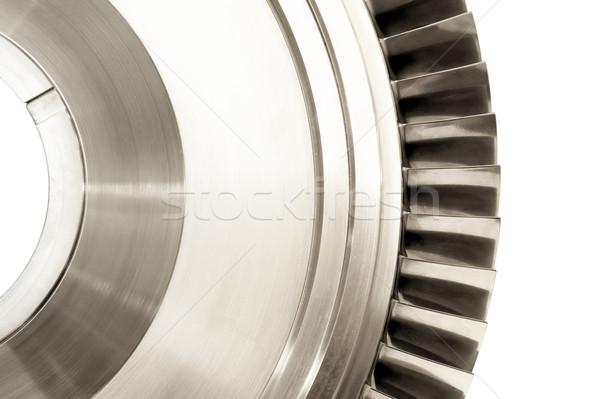 タービン ジェット エンジン ブレード 孤立した 白 ストックフォト © nelsonart