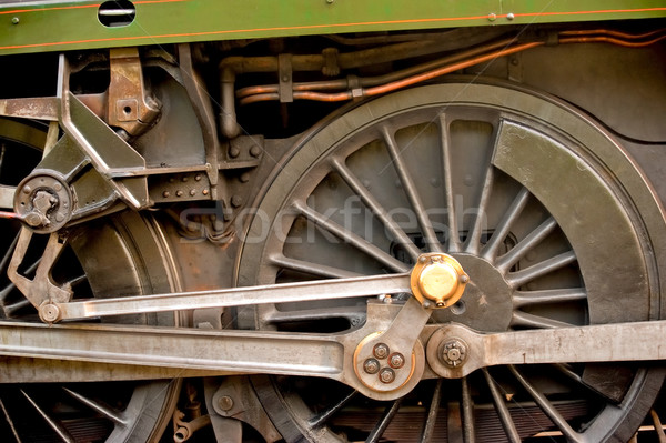 Locomotora ingeniería rueda detalle vintage Foto stock © nelsonart