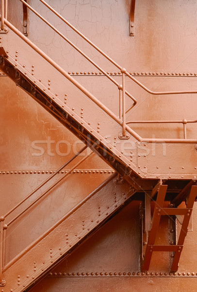 Industrial escalera metal arquitectura pintado óxido Foto stock © nelsonart