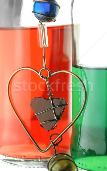 Amor pasión envidiar colores vidrio verde Foto stock © nelsonart
