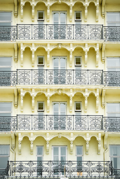 Mimari detay Bina ev pencere Stok fotoğraf © nelsonart