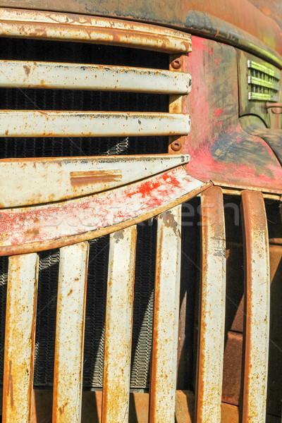 Rouille seau camion vintage résumé moteur Photo stock © nelsonart