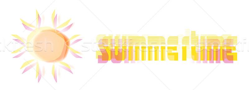 été soleil texte illustration fête Photo stock © nelsonart