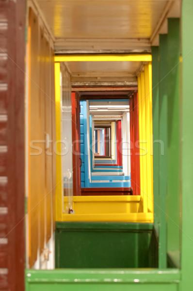Punto de fuga colorido edificio resumen fondo Foto stock © nelsonart