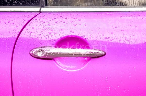 Auto puerta palanca rosa vehículo panel Foto stock © nelsonart