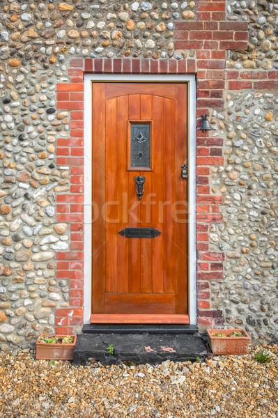 wooden door Stock photo © nelsonart