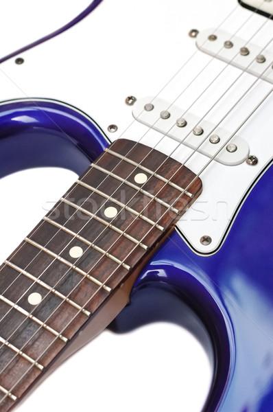 blue electric guitar Stock photo © nelsonart