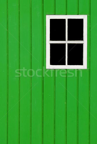 зеленый панель Windows древесины кадр копия пространства Сток-фото © nelsonart
